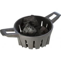 Cesto in ghisa per carbonella